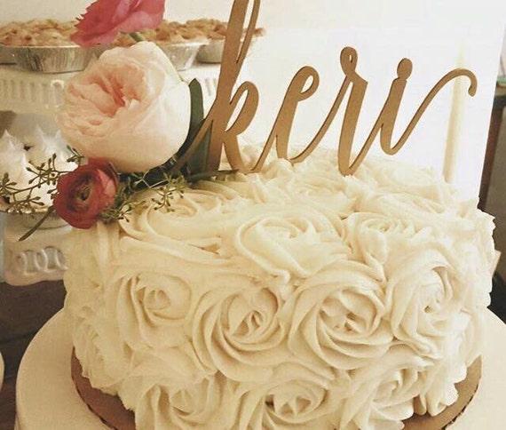 Custom Name Cake Topper, Personalized Topper, Wooden Cake Topper, Glitter Cake Topper, Laser Cut Name, Laser Cut Cake Topper