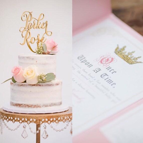 Custom Name Cake Topper, Wedding Cake Topper, Engagement Cake Topper, Bridal Shower Cake Topper, Anniversary Cake Topper, Birthday Cake