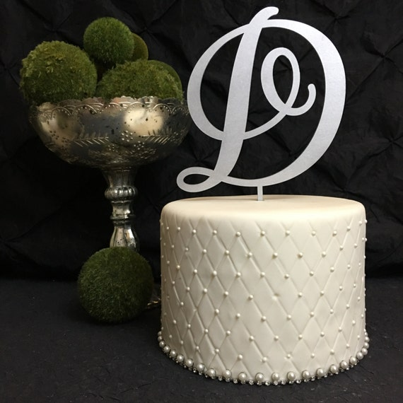 Monogram Cake Topper, Letter Cake Topper, Wedding Cake Topper, Engagement Cake Topper, Custom Cake Topper, Personalized Cake Topper