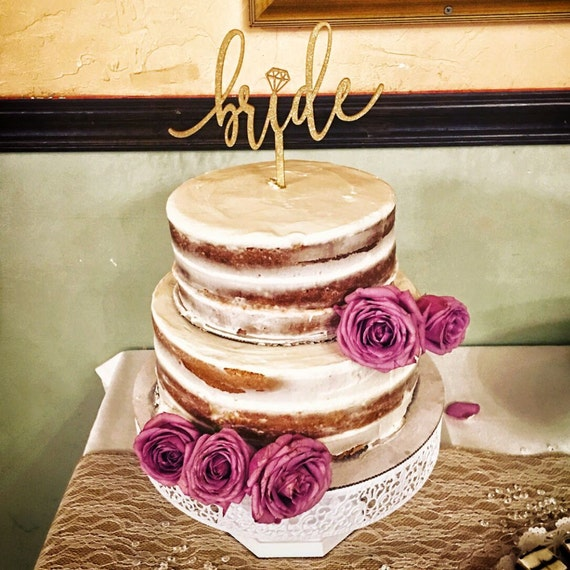 Bride cake topper, Bridal Shower Cake Topper, Engagement Party Cake Topper, Cake Topper for Bridal Shower, Bridal Cake Topper