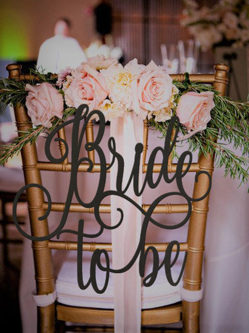 Bride to Be Chair Sign Bridal Shower Sign Bridal Shower image 0