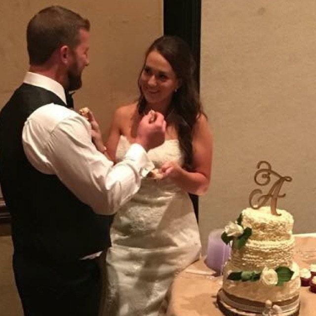 Tremendous Monogram Cake Topper Letter Cake Topper Wedding Cake Funny Birthday Cards Online Benoljebrpdamsfinfo