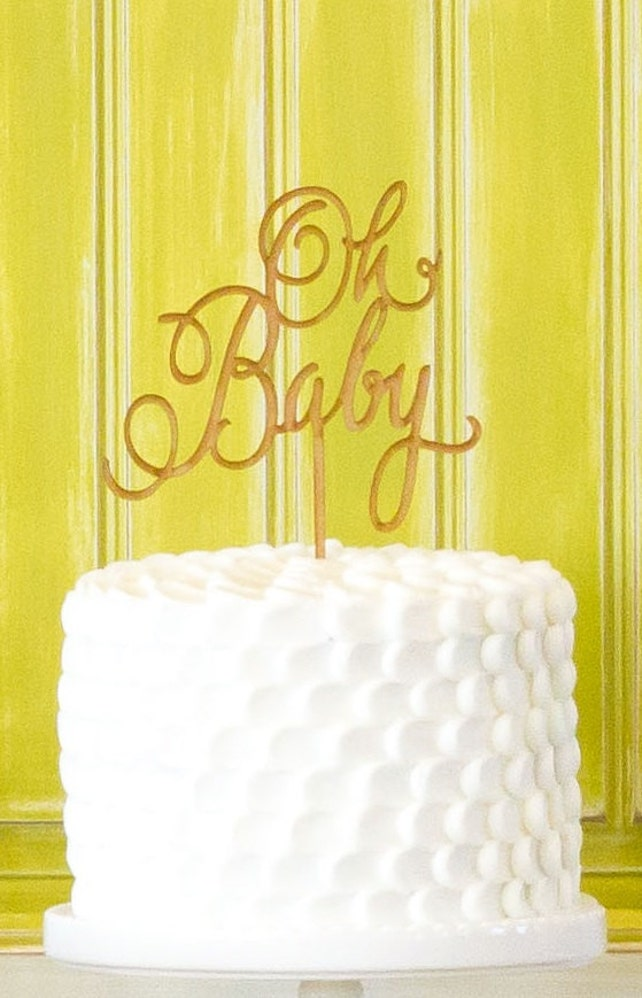 Oh Baby Cake Topper Baby Shower Cake Topper Gender Neutral   Etsy