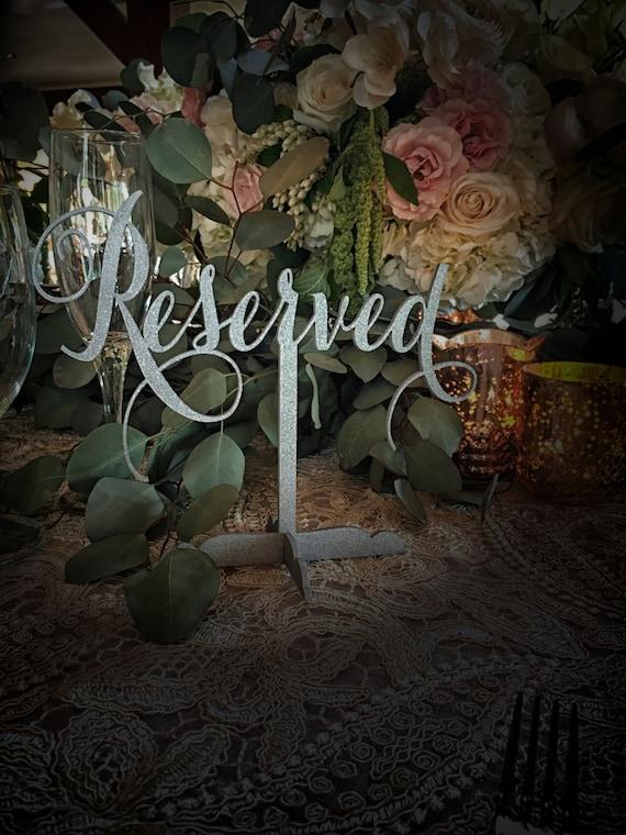 Reserved Sign, Reserved Table Sign, Reserved Sign for Wedding, Wedding Reserved Sign, Reserved for Family, Reserved Wedding Sign,