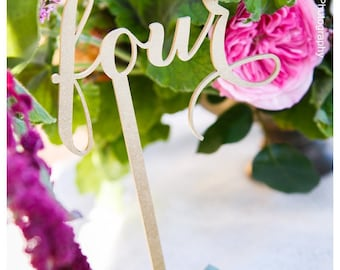 Gold Table Numbers, Wedding Table Numbers, DIY Table Numbers, Wooden Table Numbers,Laser Cut Wedding Decor, Rustic Wedding Table Numbers