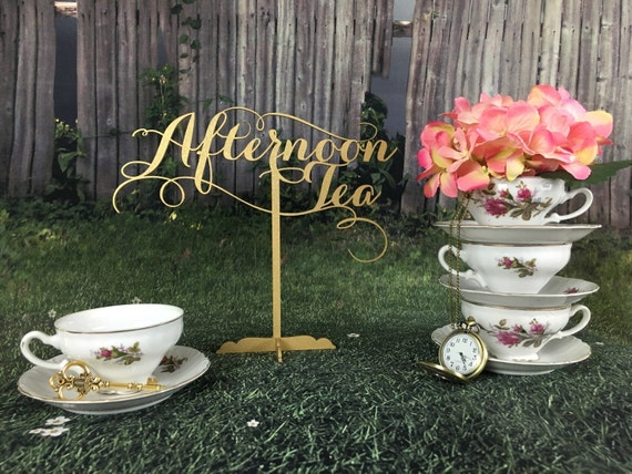 Tea Party Decoration, Baby Shower Tea party, Alice in Wonderland Decor, Tea Party, Tea Party Decor, Sweet Tea Sign, Tea Party,
