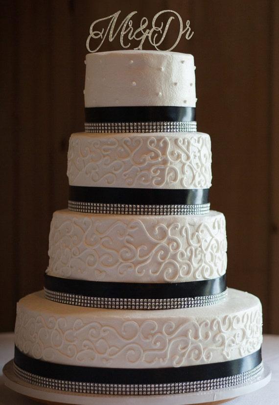 Mr & Dr Cake Topper, Wedding Cake Topper, Engagement Cake Topper, Bridal Shower Cake Topper, Anniversary Cake Topper, Glitter Cake Topper