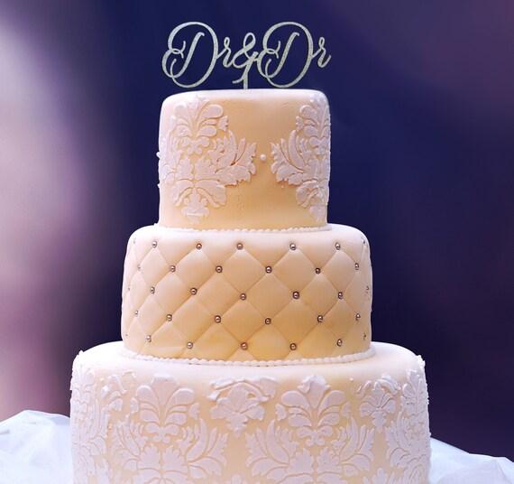 Dr & Dr Cake Topper, Dr and Dr, Wedding Cake Topper, Engagement Cake Topper, Anniversary Cake Topper, Glitter Cake Topper