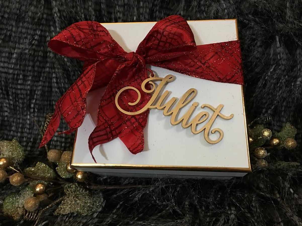 Christmas Decoration, Laser Cut Name Tag, Christmas Gift Tag, Custom ...