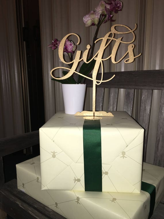 Gifts Sign, Wedding Present Sign, Sign for Gift Table, Wedding Gift Table Sign, Presents Sign, Baby Shower Signage, Bridal Shower Sign
