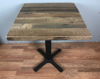 Reclaimed Oak Table Etsy - Reclaimed oak table top