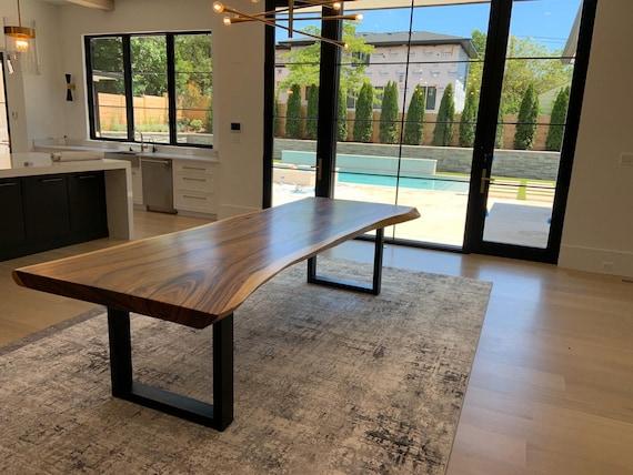 Live Edge Acacia Wood Slab Dining Table, R Home Furniture