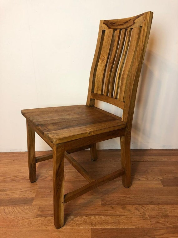 Solid Teak Wood Dining Chair Dining Table Chair Kitchen Etsy