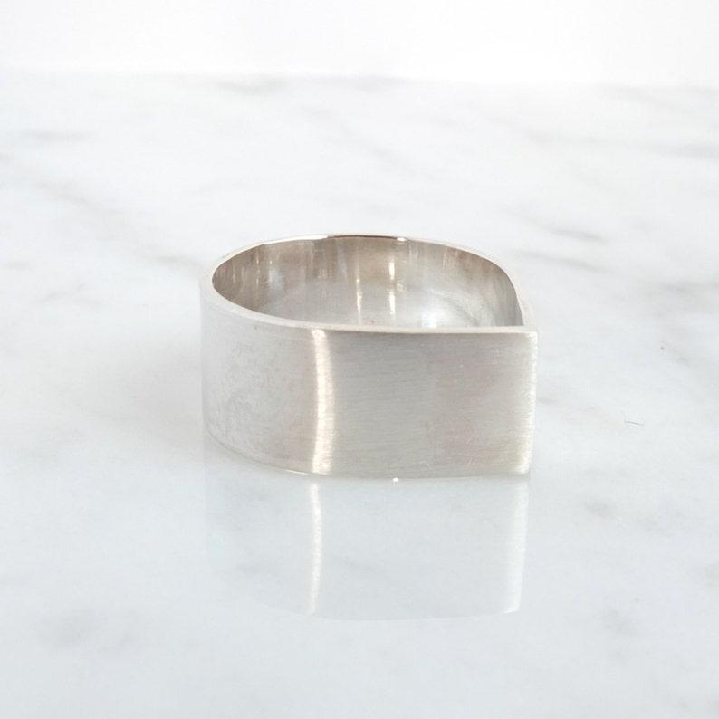 pure jewelry minimal wedding band simple silver teardrop ring basic silver wedding ring