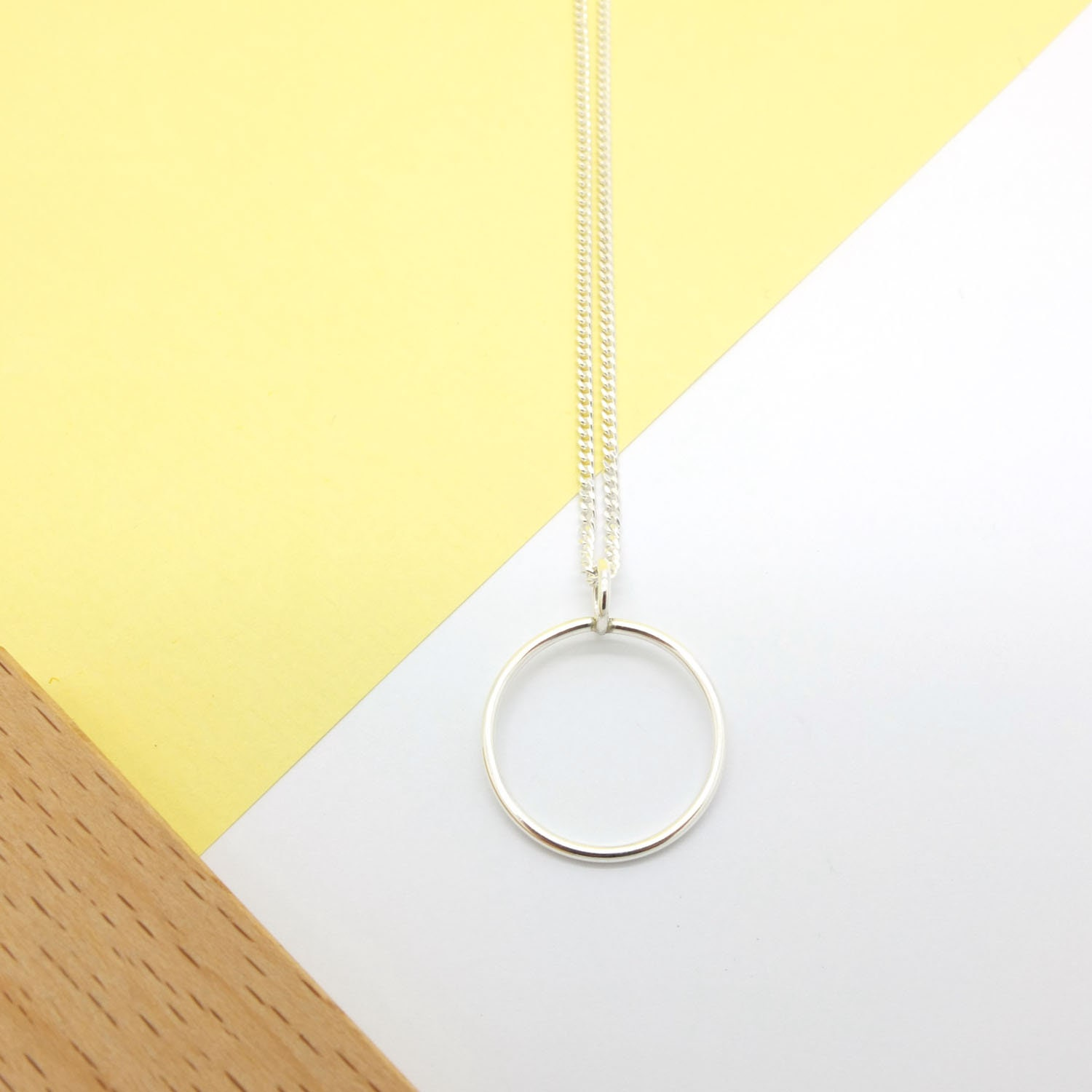Sterling Silver Karma Circle or Eternity Necklace