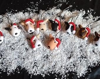 Bull Terrier Gift, English Bull Gift, Bull Terrier Christmas decoration, English Bull, Bull Terrier bottle toppers, Bull Terrier Bauble