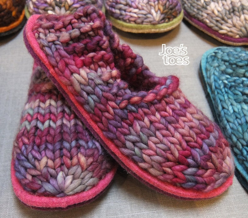 7fdcaa86b4dc Sam Slipper Knitting KIT to make cosy slippers with