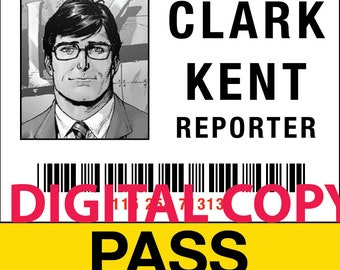 image about Lois Lane Press Pass Printable identified as Lois lane Etsy