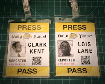 image about Clark Kent Press Pass Printable called Lois lane Etsy