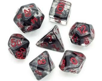 Spooky Bat Polyhedral Dice Set for Dungeons & Dragons DND