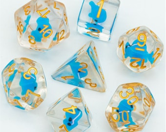 Blue Whale Polyhedral Dice Set for Dungeons & Dragons DND