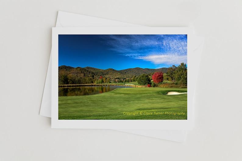 Handmade Golf Photo Art Cards Photo cards for Men Golf image 0
