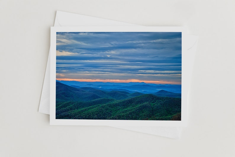 Handmade Photo Art Cards Blue Ridge Parkway Photo Note Cards image 0