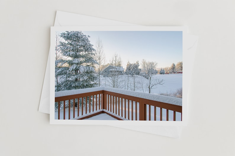 Winter Handmade Nature Photo Art Note Card Note Cards with image 0