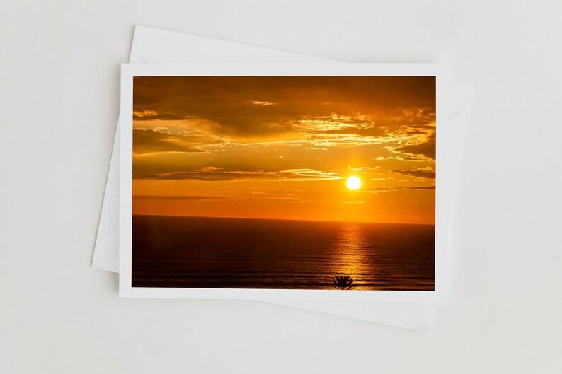 Handmade Photo Art Cards Atlantic Ocean Florida Sunrise image 0