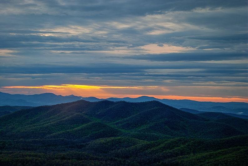 Blue Ridge Mountains Print Appalachian Wall Art Nature image 0