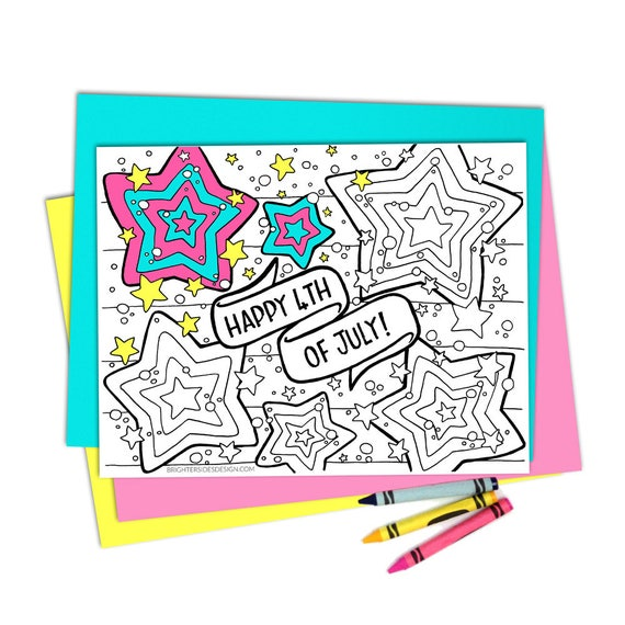 4th Of July Coloring Pages Printable Adult Coloring Kids Etsy