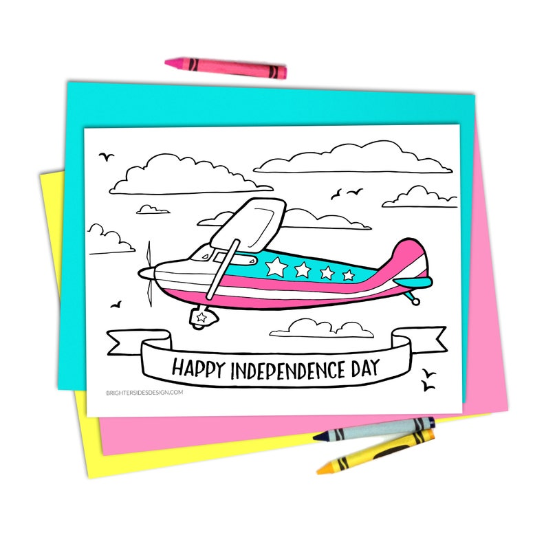 This is an image of Independence Day Coloring Pages Printable in worksheet