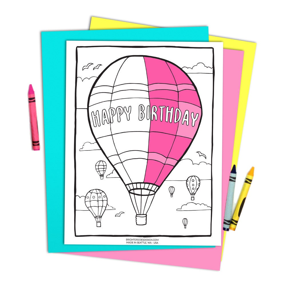 Kids Party Activities Printable Birthday Coloring Page Colouring Pages Instant Download Adult Book