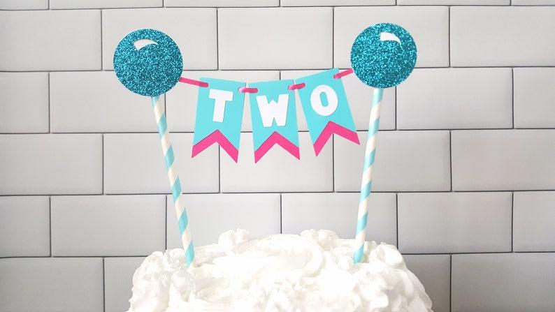Bubble Bash Decorations Birthday Cake Bunting