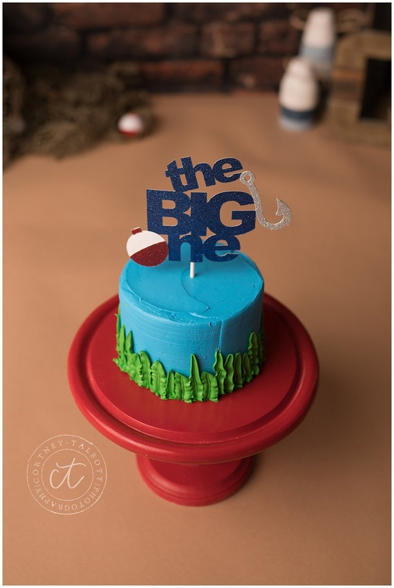 Pleasing The Big One Cake Topper Big One Fishing Cake Topper The Big Etsy Funny Birthday Cards Online Eattedamsfinfo