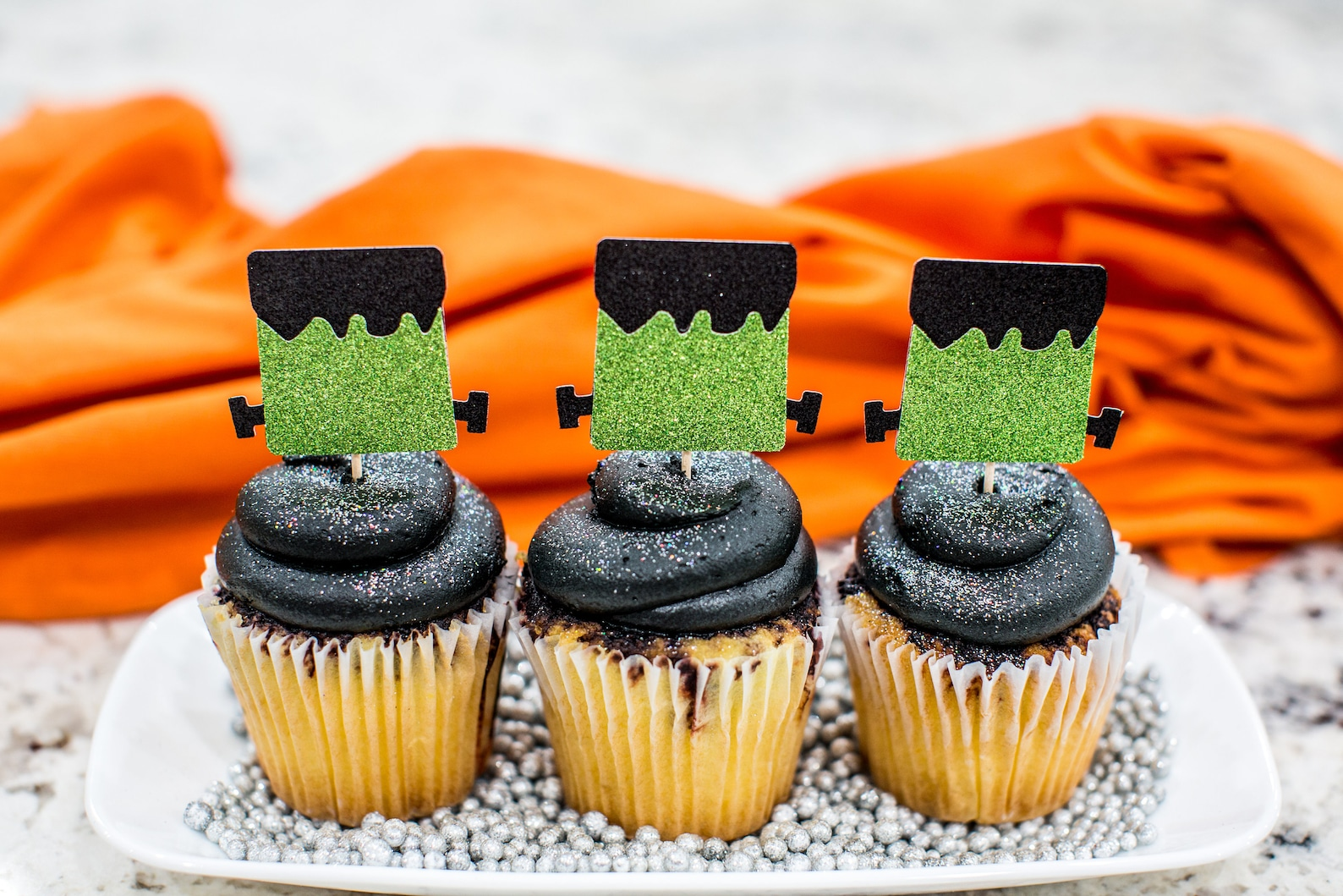 Frankenstein Cupcake Picks