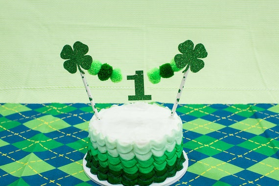 St Patrick S Day First Birthday St Patrick S Day Cake Topper