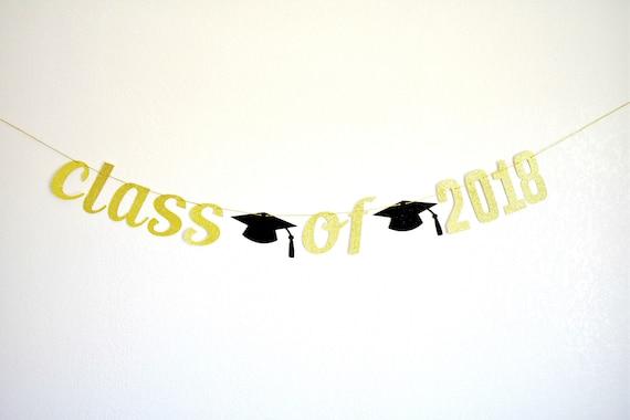 class of 2018 glitter banner graduation glitter banner graduation