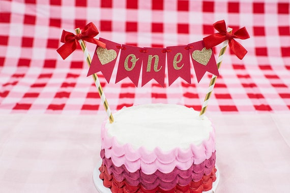 Excellent Valentines Day First Birthday Cake Topper Valentines Day Smash Birthday Cards Printable Riciscafe Filternl