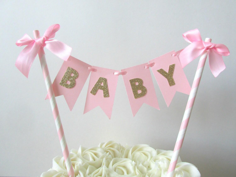 Girl Baby Shower Cake Topper It S A Girl Cake Topper Baby Etsy