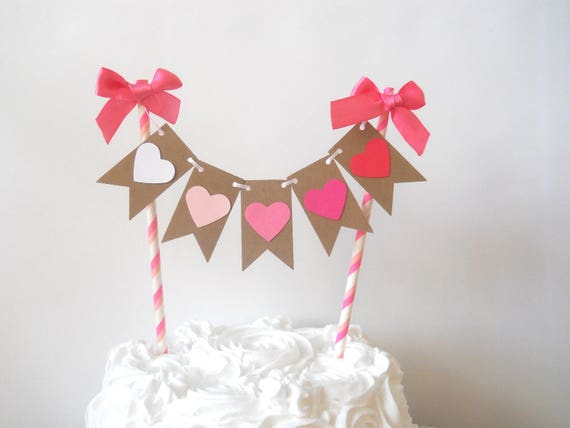 Valentine S Day Cake Bunting Heart Cake Bunting Ombre Heart Cake