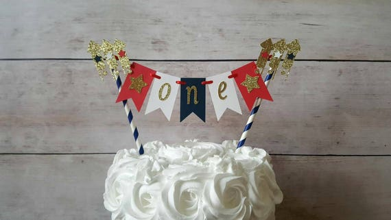 ORIGINAL Little Firecracker Cake Topper 4th Of July Birthday Decorations Smash