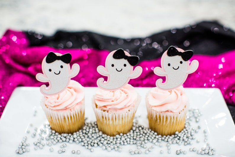 Pink Halloween Decorations. Happy Booday Decorations. Ghost image 0