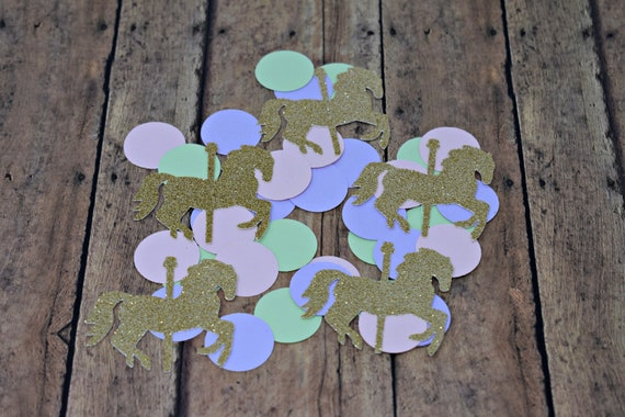 Carousel Horse Confetti Carousel Horse Party Decorations Carousel