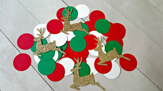 Christmas Party Decorations Reindeer Confetti Reindeer Party Decor