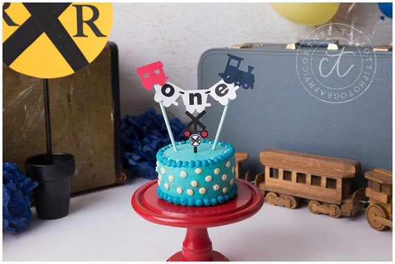 Sensational Train 1St Birthday Train Cake Topper Choo Choo Party Decor Personalised Birthday Cards Veneteletsinfo