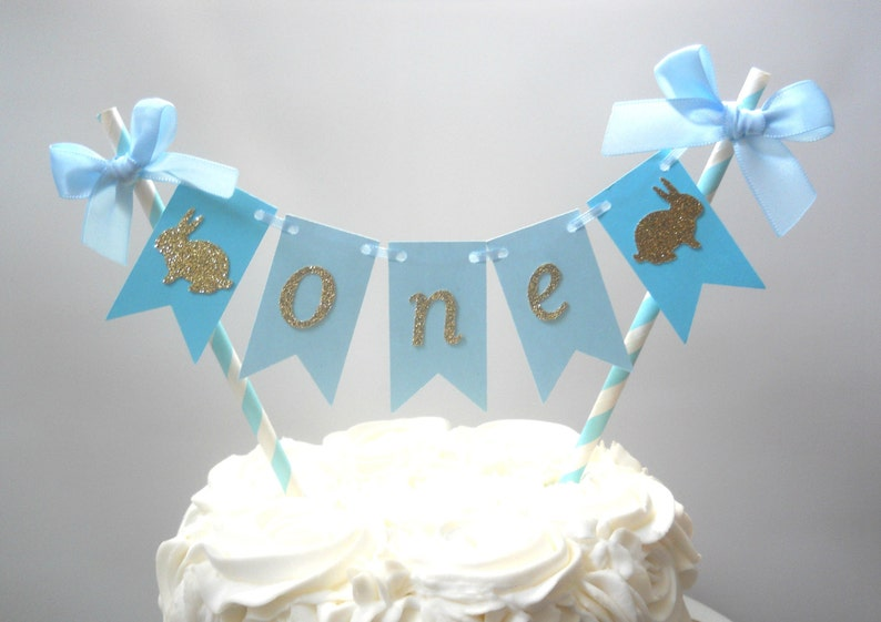 Boy Bunny First Birthday Some Bunny Is One Cake Bunting Some Etsy