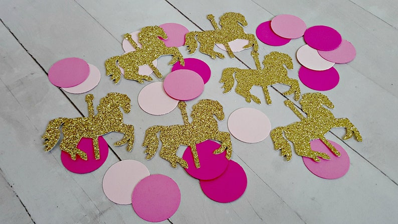 325 Carousel Horse Confetti Carousel Horse Party Decorations Etsy