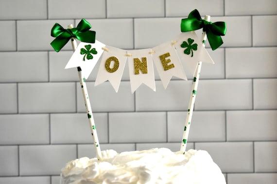 Fantastic Irish First Birthday Lucky Shamrock Irish Birthday Party Etsy Personalised Birthday Cards Veneteletsinfo