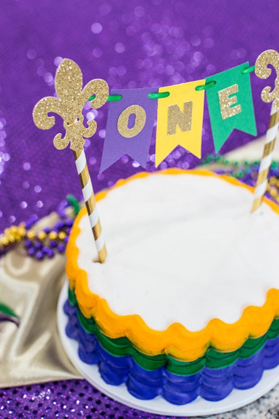 Mardi Gras Birthday Candle Purple Green Gold Glitter Mardi Gras Party Decor Party Supplies Keepsake Candle Sparkly Number Cake Topper